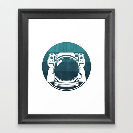 Underwater Astronaut Framed Art Print
