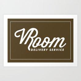 VRoom Delivery Service Art Print