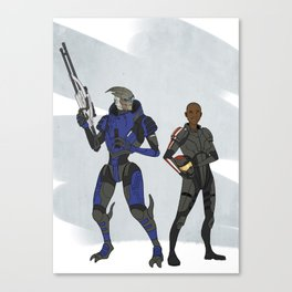 Shepard and Garrus Canvas Print