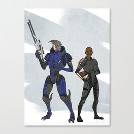 Shepard and Garrus Canvas Print