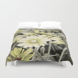Faded Yellow Daisy flower Rustic Home Decor A277 Duvet Cover