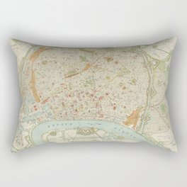 Vintage Map of Antwerp Belgium (1897) Rectangular Pillow