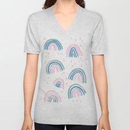 Rainbow Chroma Pastel Unisex V-Neck