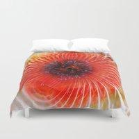 poppy Duvet Covers featuring Poppy by Klara Acel