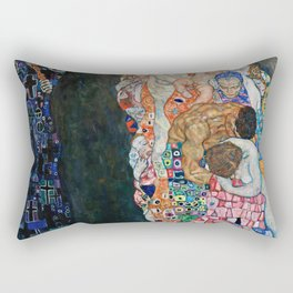 Gustav Klimt - Death And Life Rectangular Pillow