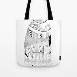 The Town Atop a Hill Tote Bag