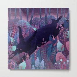 Follow The Black Rabbit Metal Print