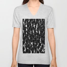Public assembly B&W inverted / Lineart people pattern Unisex V-Neck