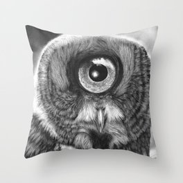 Evolution: Great Gray Owl Throw Pillow