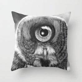 Evolution: Great Gray Owl Throw Pillow