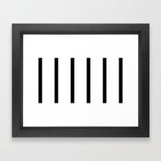 Black and White. Framed Art Print