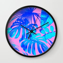 Banana Leaf Painting Wall Clock