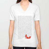 grass V-neck T-shirts featuring Black grass by Robert Farkas