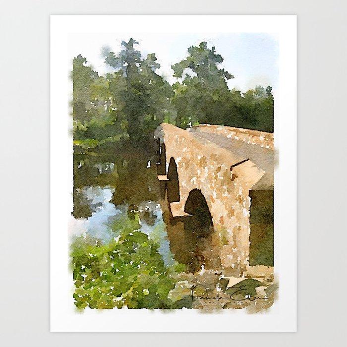 Watercolor - Brugler Rd Bridge Art Print