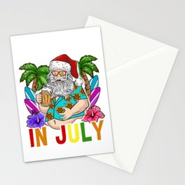 Christmas In July Hawaiian products For Family Summer Vacation print Stationery Cards