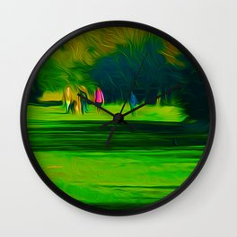 A walk in the park (Digital Art) Wall Clock