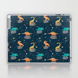 Dinosaurs Floating on an Asteroid Laptop & iPad Skin
