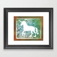 Unicorn Drawing Meditation - Stencil Print #1 Framed Art Print