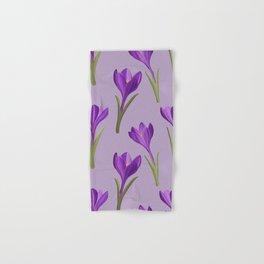 Painted crocus spring flower pattern Hand & Bath Towel