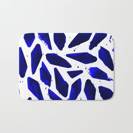 Cobalt Blue Ink Blots Bath Mat
