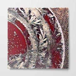 Got Frost Red Silver by CheyAnne Sexton Metal Print