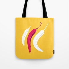 simply chillies // Pop Art Tote Bag