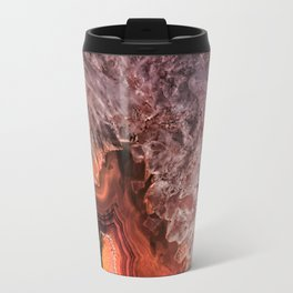Copper Brown Agate Mineral Gemstone Geode Travel Mug