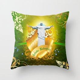 The Cristo Redentor Throw Pillow
