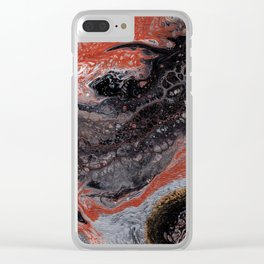 Abstract Fluid Acrylic Painting Clear iPhone Case