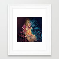 howl Framed Art Prints featuring Howl by This Is Niniel Illustrator