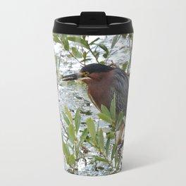 Green Heron at Lakeside Travel Mug
