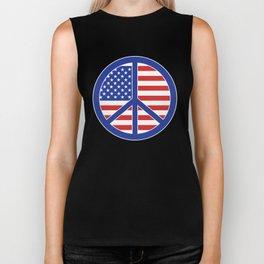 Peace in America Biker Tank