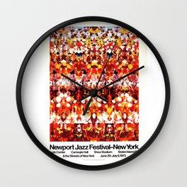 Vintage 1973 Newport Jazz Festival Poster Wall Clock