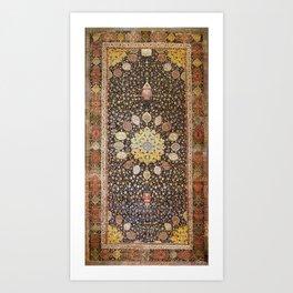 Ardabil Persian Safavid Carpet Art Print