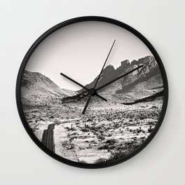 The Lost Highway III Black & White Wall Clock