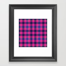 Pink and Navy Plaid Framed Art Print