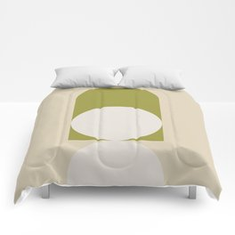 Contemporary Composition 05 - Golden Lime Comforters