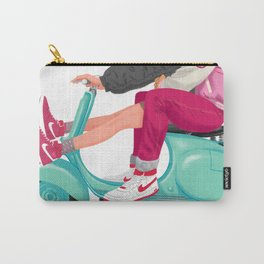 A Valentine with sneaker and Vespa Carry-All Pouch