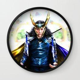 Loki - Ragnarok IV Blue Wall Clock