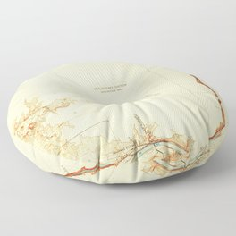 CA Merced Falls 296304 1919 31680 geo Floor Pillow