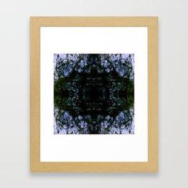 grunge blue Framed Art Print