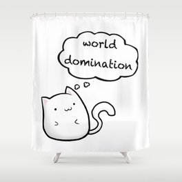 Cats World Domination Shower Curtain