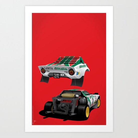 Lancia Stratos Art Print