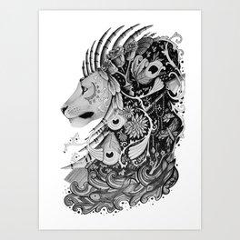 Brainstorm Lion Art Print