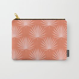 Tropical Palm Leaves Print Orange Sienna Decor Carry-All Pouch