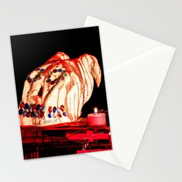 Addams Family Skull Wax Stationery Cards