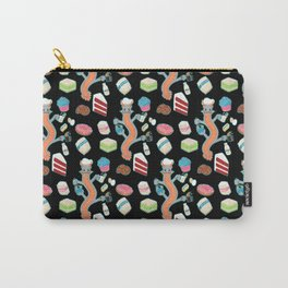 The Pastry Chef Dragon Pattern in Black Carry-All Pouch