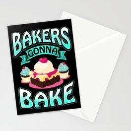 Bakers Gonna Bake - Bakery Cake Baked Goods Bread Stationery Cards