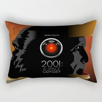 2001 Rectangular Pillows featuring 2001 - A space odyssey by Martin Woutisseth