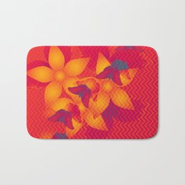 Radioactive butterflies Bath Mat